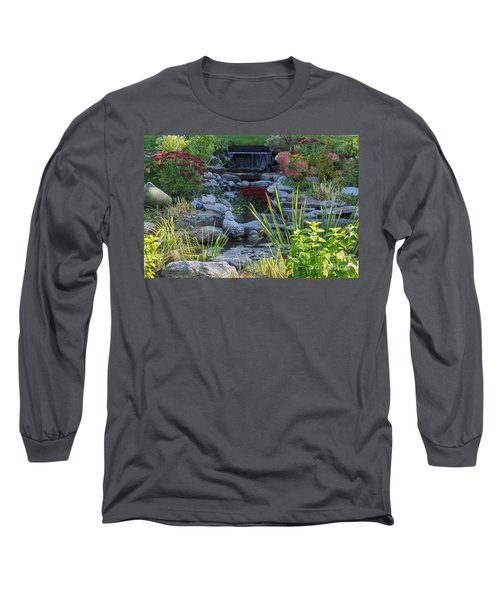 Long Sleeve T-Shirt featuring the photograph Buddha Water Pond by Brenda Brown