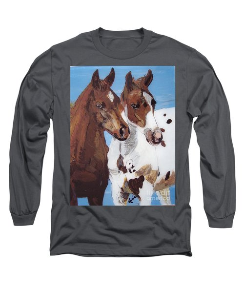 Long Sleeve T-Shirt featuring the painting Buddies by Lucia Grilletto