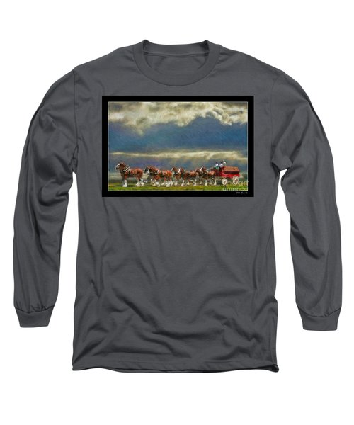 Budweiser Clydesdale Paint 2 Long Sleeve T-Shirt