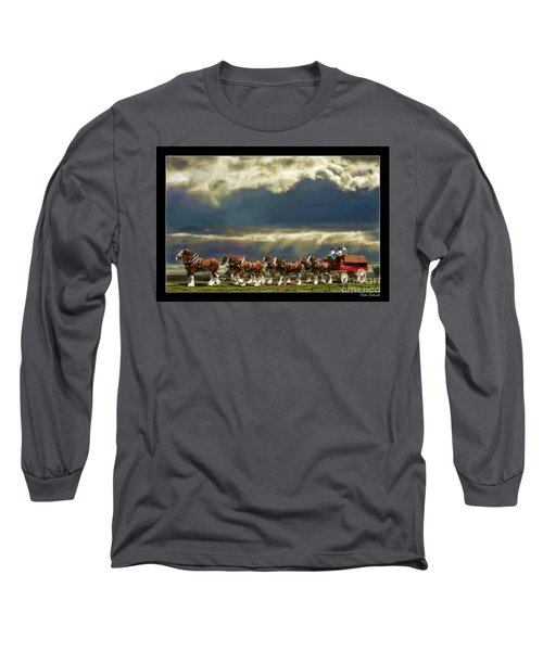 Budweiser Clydesdales Paint 1 Long Sleeve T-Shirt