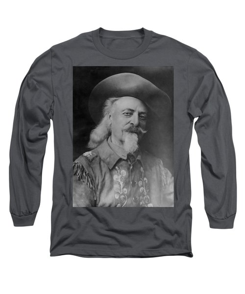 Long Sleeve T-Shirt featuring the photograph Buffalo Bill Cody by Charles Beeler