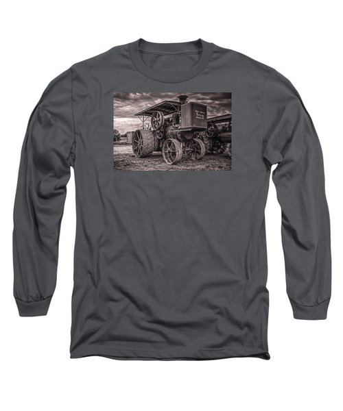 Buffalo Pitts Steam Traction Engine Long Sleeve T-Shirt by Shelly Gunderson