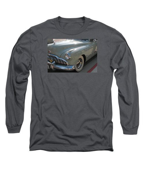 Buick Roadmaster Long Sleeve T-Shirt by Connie Fox