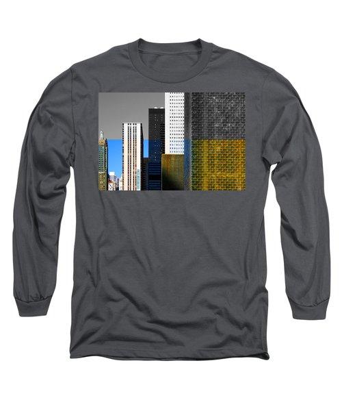 Building Blocks Cityscape Long Sleeve T-Shirt
