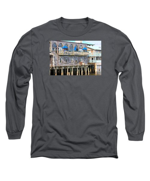 Building On Piles Above Water Long Sleeve T-Shirt by Lorna Maza