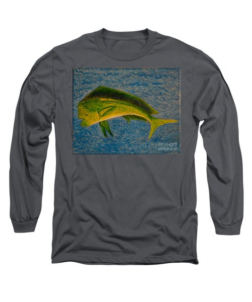 Bull Dolphin Mahimahi Fish Long Sleeve T-Shirt
