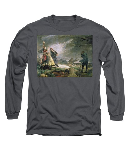 Burial At La Moncloa In May 1808 Oil On Canvas Long Sleeve T-Shirt