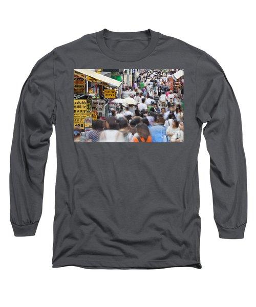 Busy Takeshita Dori Long Sleeve T-Shirt