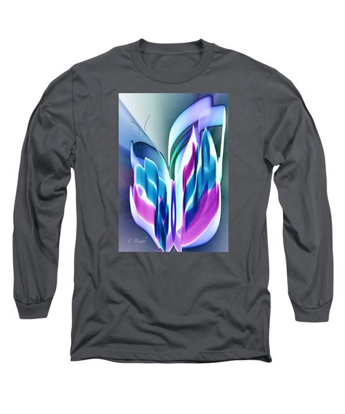 Long Sleeve T-Shirt featuring the digital art Butterfly Abstract 3 by Frank Bright