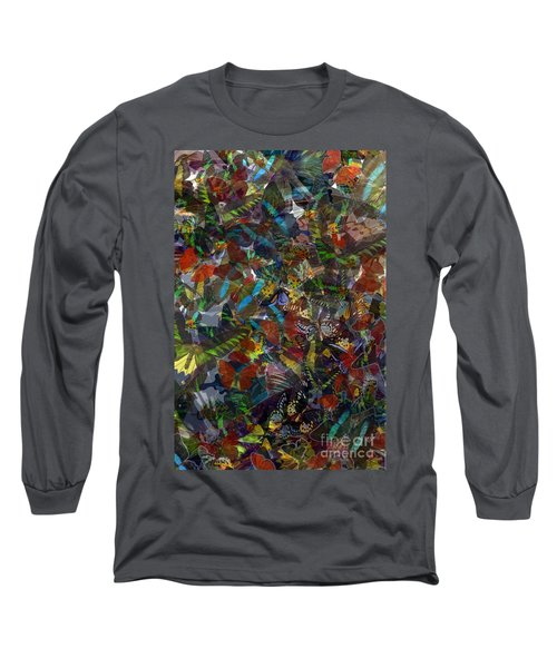 Long Sleeve T-Shirt featuring the photograph Butterfly Collage by Robert Meanor