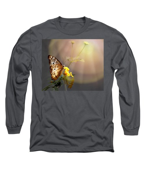 Butterfly Glow Long Sleeve T-Shirt by Judy Vincent