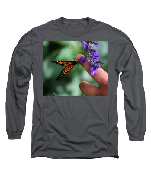 Long Sleeve T-Shirt featuring the photograph Butterfly by Leticia Latocki