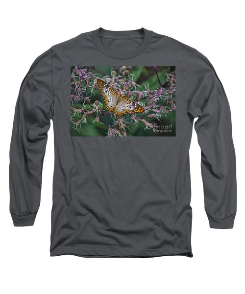 Long Sleeve T-Shirt featuring the photograph Butterfly Soft Landing by Thomas Woolworth