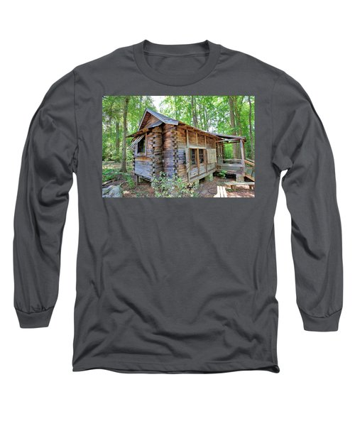 Long Sleeve T-Shirt featuring the photograph Cabin In The Woods by Gordon Elwell