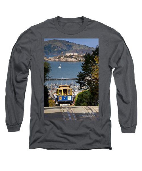 Cable Car In San Francisco Long Sleeve T-Shirt