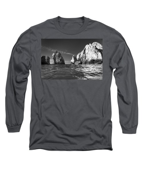 Cabo In Black And White Long Sleeve T-Shirt