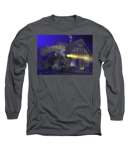 Caboose Hop At Dolores Colorado Long Sleeve T-Shirt by J Griff Griffin
