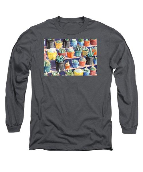 Cacti Chorusline Long Sleeve T-Shirt by Lynda Hoffman-Snodgrass