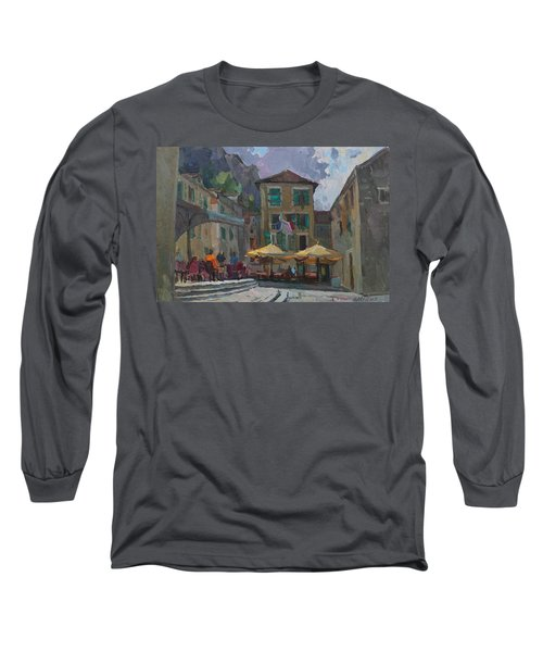 Cafe In Old City Long Sleeve T-Shirt