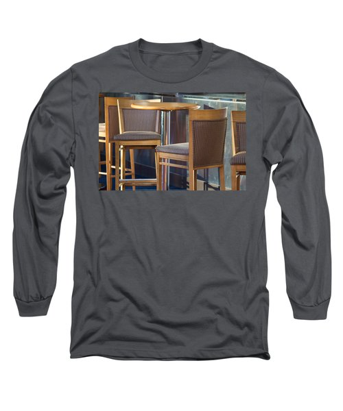 Long Sleeve T-Shirt featuring the photograph Cafe by Patricia Babbitt