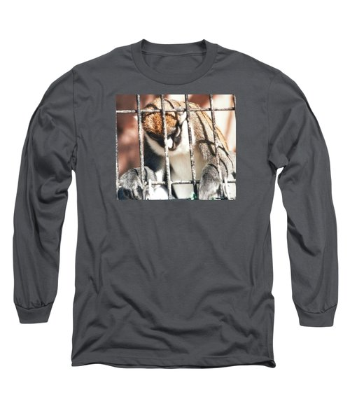 Caged But Strong Long Sleeve T-Shirt by Belinda Lee