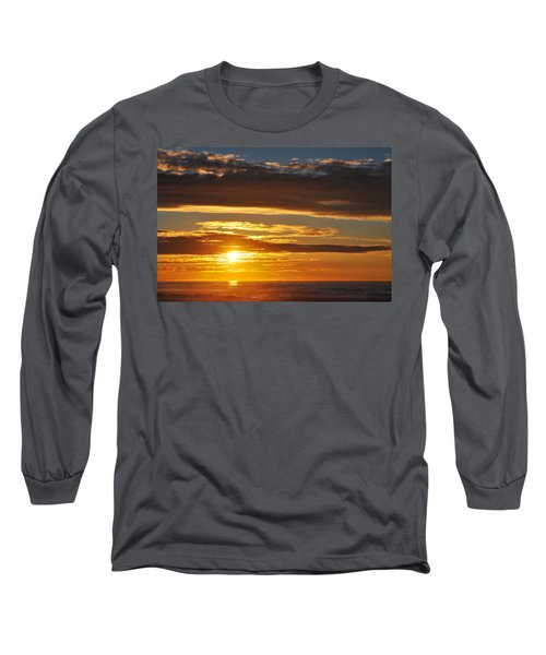 Long Sleeve T-Shirt featuring the photograph California Central Coast Sunset by Kyle Hanson