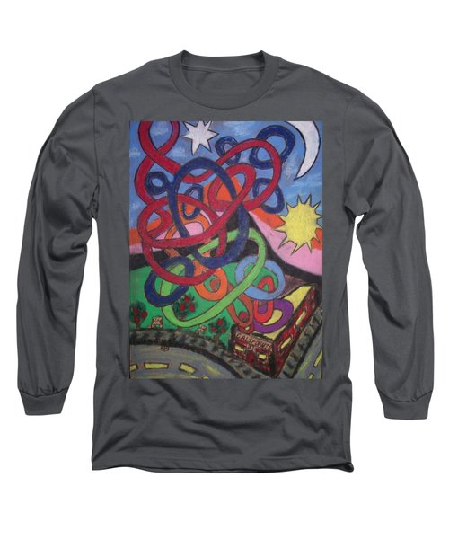 Long Sleeve T-Shirt featuring the drawing California by Jonathon Hansen