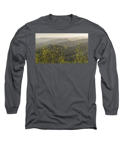 Long Sleeve T-Shirt featuring the photograph California Wildflowers by Steven Sparks