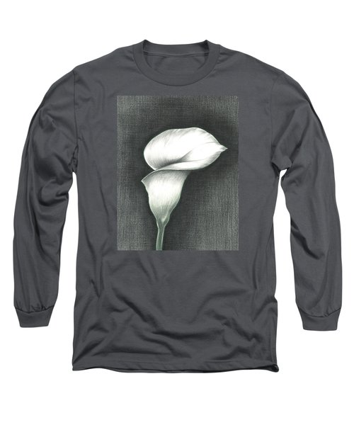 Long Sleeve T-Shirt featuring the photograph Calla Lily by Troy Levesque