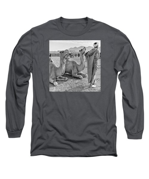 Camel Market, Morocco, 1972 - Travel Photography By David Perry Lawrence Long Sleeve T-Shirt