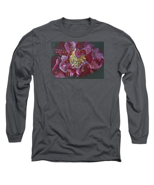 Camellia Rain Long Sleeve T-Shirt