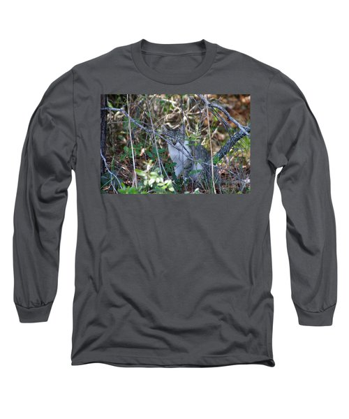 Camouflage Cat Long Sleeve T-Shirt by Greg Graham