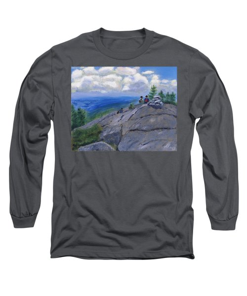 Campers On Mount Percival Long Sleeve T-Shirt