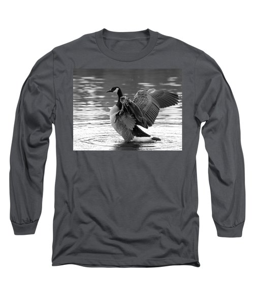 Canada Goose Black And White Long Sleeve T-Shirt