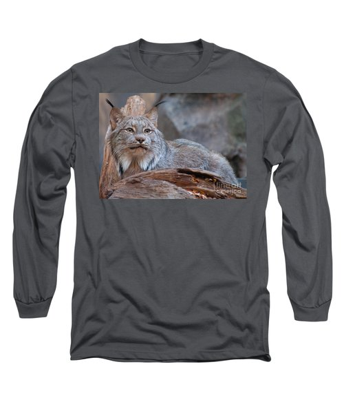Canada Lynx Long Sleeve T-Shirt by Bianca Nadeau