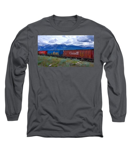 Canadian Freight Train In Jasper #2 Long Sleeve T-Shirt