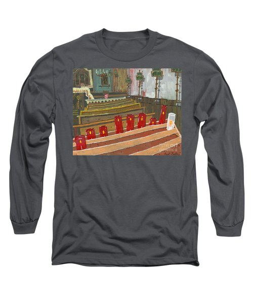 Candles In Cinque Terra Long Sleeve T-Shirt