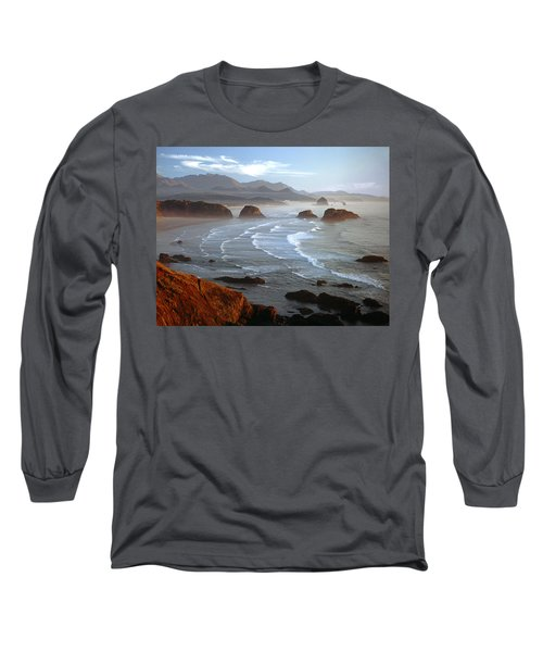 Cannon Beach At Sunset Long Sleeve T-Shirt
