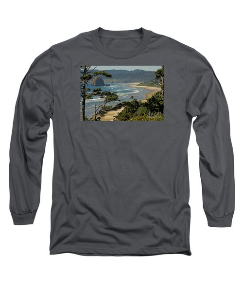 Long Sleeve T-Shirt featuring the photograph Cannon Beach Seascape by Nick  Boren