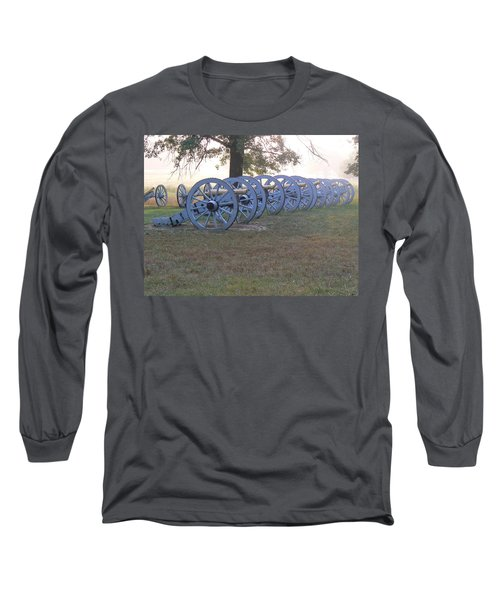 Long Sleeve T-Shirt featuring the photograph Cannon's In Fog by Michael Porchik
