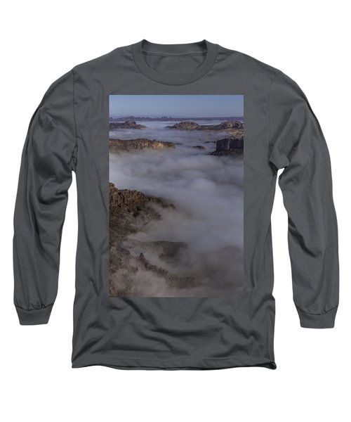 Canyon Rims Float In Fog Long Sleeve T-Shirt