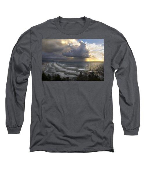 Sunset At Cape Lookout Oregon Coast Long Sleeve T-Shirt