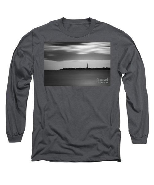 Cape May Lighthouse Long Exposure Bw Long Sleeve T-Shirt