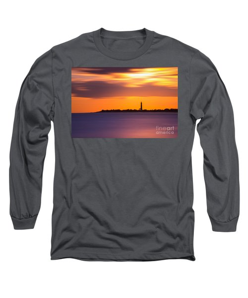 Cape May Lighthouse Long Exposure Long Sleeve T-Shirt