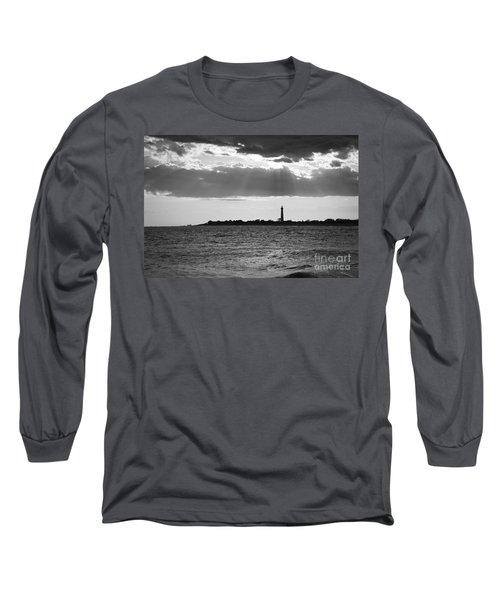 Cape May Sun Rays Bw Long Sleeve T-Shirt