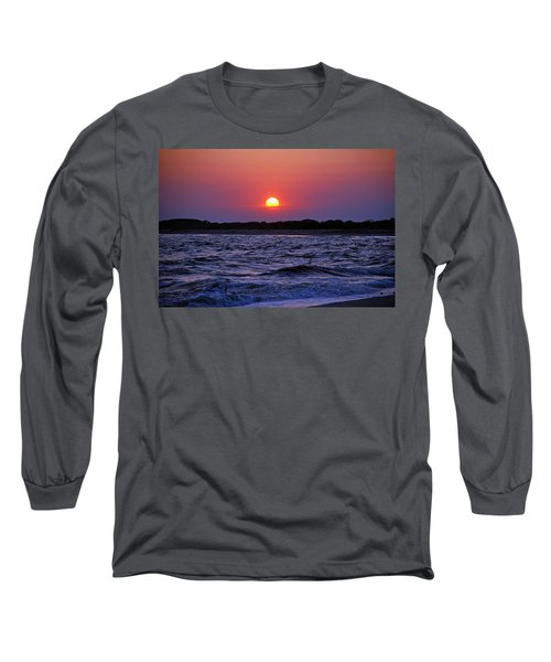 Cape May Sunset Long Sleeve T-Shirt by Richard Bryce and Family