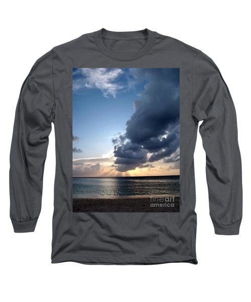 Caribbean Sunset Long Sleeve T-Shirt by Peggy Hughes