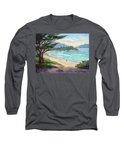 Carmel Beach Evening Light Long Sleeve T-Shirt