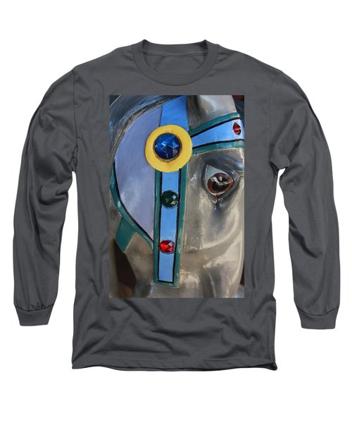 Long Sleeve T-Shirt featuring the photograph Carousel Horse by Diane Alexander