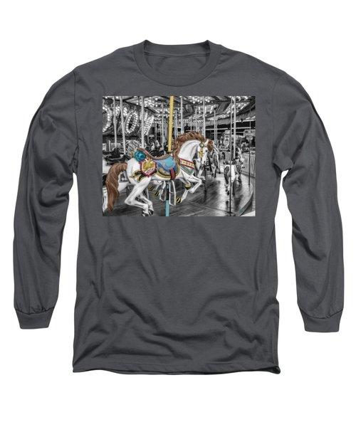 Carousel Horse Equ168125 Long Sleeve T-Shirt